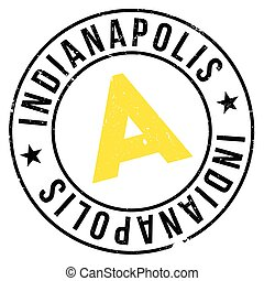 Indianapolis stamp rubber grunge - Indianapolis stamp....