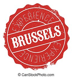 Brussels stamp rubber grunge - Brussels stamp. Grunge design...