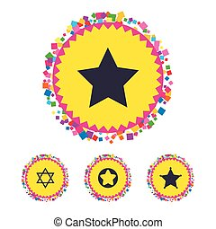 Star of David icons. Symbol of Israel. - Web buttons with...