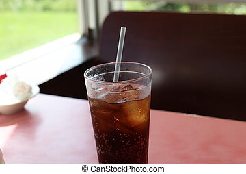 Soft Drink - Soft drink at a resturaunt booth