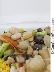Takeout - Assorted takeout dishes from Chinese resturaunt