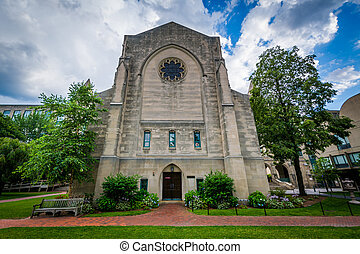 The Marsh Chaple, at Boston University, in Boston,...