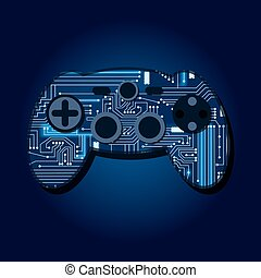Gamepad with electronic circuit - Gamepad with a...