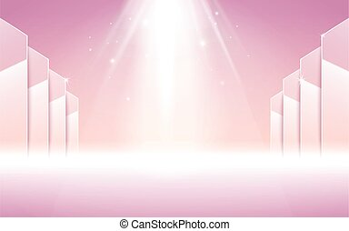 pink stage spotlight - pink stage with white spotlight...