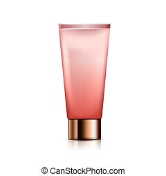 pink cosmetic tube