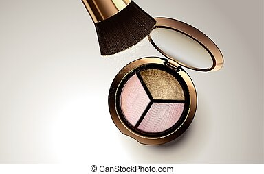 tricolor eyeshadow product - tricolor eyeshadow in golden...