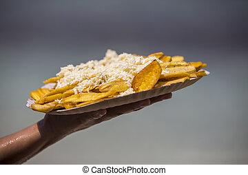 venezuela,  morrocoy, playa, queso,  patacon