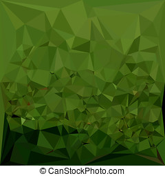 Chlorophyll Green Abstract Low Polygon Background - Low...