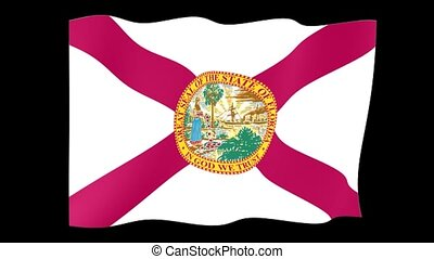 Florida State flag. Waving - Flag animation Useful for...