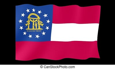 Georgia State flag. Waving - Flag animation Useful for...