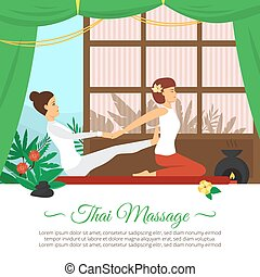 Massage And Healthcare Illustration - Flat design healthcare...