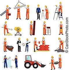 Repairs Construction Builder Set - Flat design repairs...