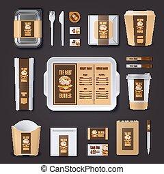 Burger Bar Corporate Identity - Burger bar corporate...
