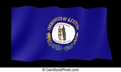 Kentucky State flag. Waving PNG. - Flag animation for using...
