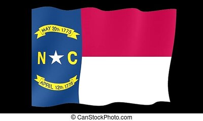 North Carolina State flag. Waving PNG. - Flag animation for...