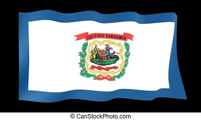 West Virginia State flag. Waving PNG. - Flag animation for...
