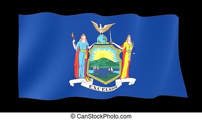 New York State flag. Waving PNG. - Flag animation for using...