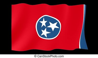 Tennessee State flag. Waving - Flag animation for using in...