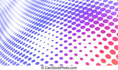Blue dots motion background seamless loop - Blue halftone...