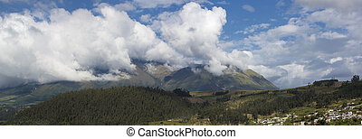 Panorama landscape of Otavalo, Ecuador - Panorama of the...