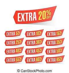 Extra sale discount labels