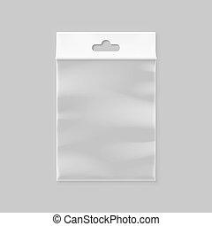 Vector empty transparent zipper bag