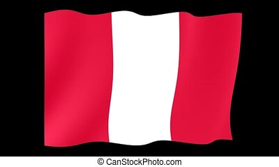 Flag of Peru. Waving flag
