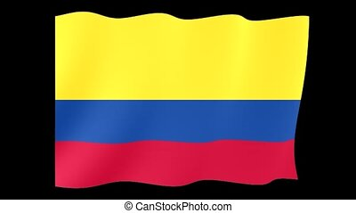 Flag of Colombia. Waving flag computer animatie. - Flag...