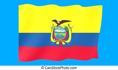 Flag of Ecuador. Waving flag - Flag animation Useful for...