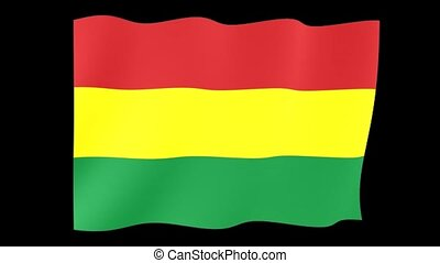 Flag of Bolivia. Waving flag - Flag animation Background...