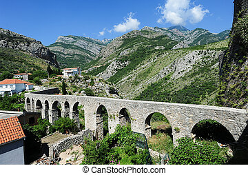 The archaeological site of Stari Bar on Montenegro