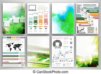 Infographic icons and backgrounds - Concept vector set of...