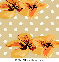 Vector Flowers retro illustration