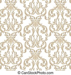 Vintage Damask Pattern ornament - Vector Vintage Damask...