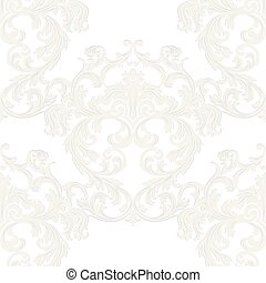 Royal floral damask baroque ornament - Vector Royal floral...