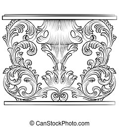 Rich Baroque Table. French Luxury rich carved ornaments...