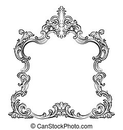 Luxury Baroque Rococo Mirror frame set. Vector French Luxury...
