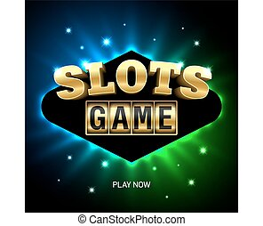 Slots game casino banner - Casino banner vector illustration