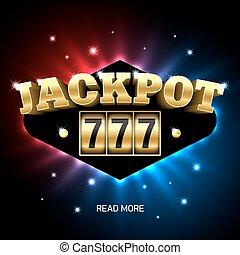 Jackpot 777, lucky triple sevens jackpot casino banner...
