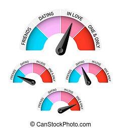 Love meter vector illustration