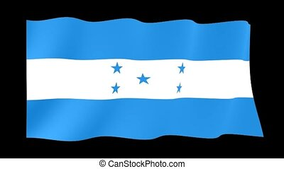 Honduran flag. Waving PNG. - Flag animation for using in...