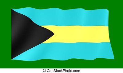Bahamian-flag. Waving - Flag animation Useful for editors....