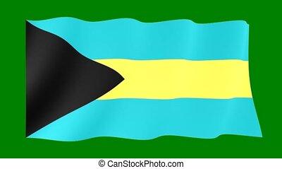 Bahamian-flag. Waving - Flag animation Useful for editors....
