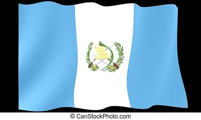 Guatemalan flag. Waving - Flag animation Useful for editors....