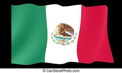 Mexican flag. WavinG. - Flag animation for using in foto's...