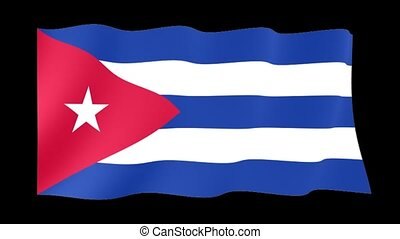 Cuban flag. Waving - Flag animation Useful for editors....