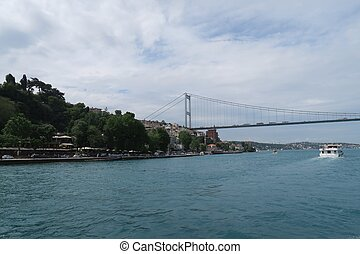 Fatih Sultan Mehmet Bridge - Second Bosphorusbridge and Rumeli Fortress in Istanbul, Turkey