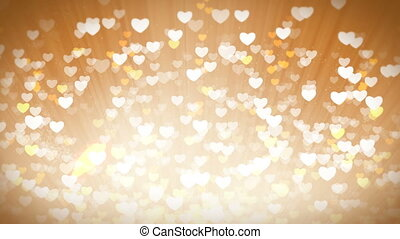 Gold Shiny Hearts Light Valentines Day Background. - Dreams...