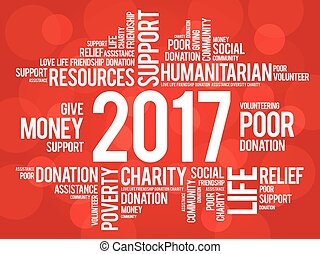 2017 help word cloud concept background