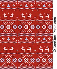 Christmas Knitted wool pattern